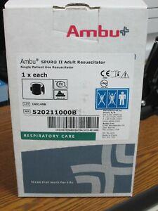 Case of 12 AMBU SPUR II Adult Resuscitator Bag 12/Case 520211000B