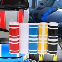 Car Van Racing Body Stripe Pinstripe Hood Side Decals Vinyl Stickers White tw