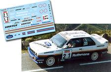 C106 Decal 1:43 Patrick Bernardini - BMW M3 - Rally Tour de Corse 1989