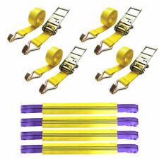 Véhicule 4pc VOITURE RÉCUPÉRATION 4x4 Ratchet Tie Down Set Link Bracelet Remorque Transporteur