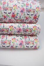 "Unicorn Rainbow Leatherette Fabric Sheet 8 x 11"" Hair bow Crafts Vinyl Roses"