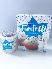 USA Philsbury Funfetti Red White And Blue Sprinkles Cake Mix And Frosting