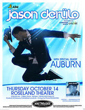 JASON DERULO / AUBURN 2010 PORTLAND CONCERT TOUR POSTER- R&B, Hip Hop, Pop Music