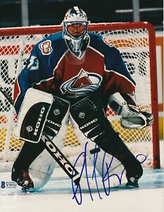 PATRICK ROY Signed Colorado AVALANCHE 8X10 PHOTO with Beckett COA