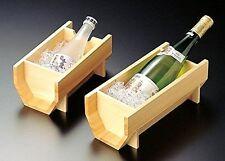 Ice bucket SAKE&Wine bottle cooler Japanese white wood Natural Made in JAPAN F/S