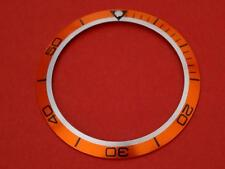 ORANGE BEZEL INSERT TO FIT Omega Seamaster 40mm Planet Ocean  2209.50.00, 2909.5