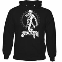 Muay Thai Skeleton Kick Boxer Mens Martial Arts Hoodie MMA Top UFC Skull Fight