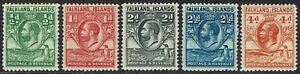 FALKLAND ISLANDS 1929 KGV WHALE AND PENGUIN 1/2D - 4D