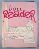 Doll Reader Vintage Collectors Magazine November 1984 Composition Dolls Lenci O