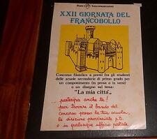 Advertising Italian Pubblicità Werbung XXII GIORNATA DEL FRANCOBOLLO POSTE 1979