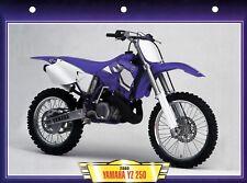 PHOTO /  FICHE TECHNIQUE MOTO  /  YAMAHA  YZ  250 . 2000 .    NEUVE