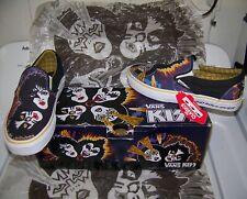 NEW Vintage KISS ROCK AND ROLL OVER Vans Slip On Skate Skateboard Shoes Men Sz 7