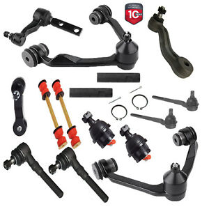 14PC Front Upper Control Arm Tie Rod Pitman Idler Kit 2WD Ford F-150 EXPEDITION
