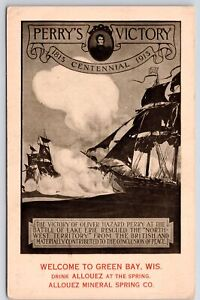 Put-in-Bay OH Perry Victory Centennial~Art Nouveau~Green Bay Allouez 1913 Gugler