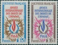 French Polynesia 1968 Sc#243-244,SG88-89 Human Rights set MNH