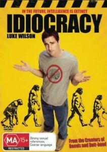 Idiocracy Rare Region 4 DVD - Mike Judge Luke Wilson Comedy Movie -