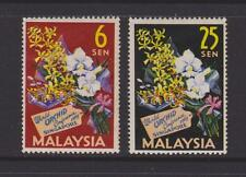 (MNH6X001) MALAYSIA 1963 The 4th World Orchid Congress, S'pore Complete set MNH