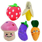 5Pcs Cute Squeaky Dog Toys for Small Dogs Fruits Vegetables Plush Puppy Dog Toys