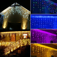 5M 216LED Curtain Icicle Lights String Fairy Light Christmas Wedding Party Decor