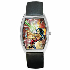 Wonder Woman Comic Barrel Style Metal Watch Perfect For Any Occasion Gift NEW