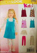 Children Girls New Look 0432 UNCUT Kids Pattern Jumper Leggings Size 3-4-5-6-7-8