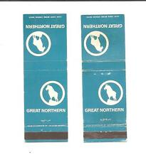 Great Northern Railway Matchbook Cover, Blue with Goat Logo