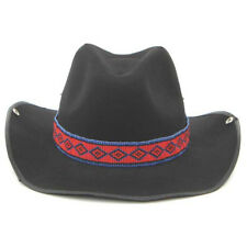 NATIVE STYLE ARTISAN RED BLUE HANDCRAFTED BEADED COWBOY UNISEX HATBAND H18/6