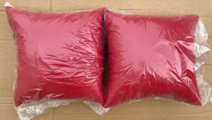 "NEW Pottery Barn Sunbrella Solid Indoor Outdoor 18"" Pillows~SET OF 2~Jockey Red"