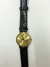 Orologio movado gold unisex museum SWISS pelle nero WATCH LEATHER oro 87-33-882