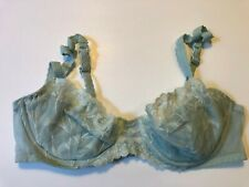VICTORIA'S SECRET Blue Lace Push-up w/o Padding Pushup Underwire Bra 34B 34 B