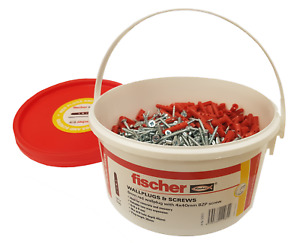 Fischer Red Contract Plugs & Screws x 500 Tub (FTUBRED)