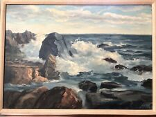 Vintage Coastal Seascape Oil Painting of Ogunquit Maine by John Bartok signed