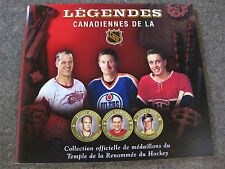 CANADIANS HOCKEY LEGENDS   MEDALLIONS COLLECTION ALBUM (ONLY ) 2008-09 RARE