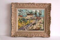 Fantastic Vintage Impressionism Landscape Painting, Signed Framed