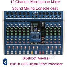 MICWL ER10 10Ch Pro Musical Audio Live Studio Wireless Mixers Mixing Console