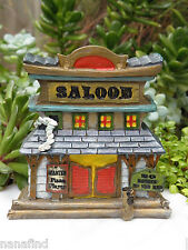 Miniature Dollhouse FAIRY GARDEN House ~ Wild West WESTERN Saloon ~ NEW