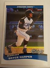 "2012 Syracuse Chiefs Bryce Harper Choice Sportscards #01 over sized card 3 1/2"""