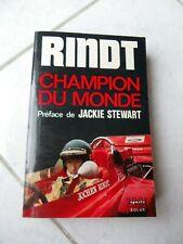 Jochen Rindt Champion du monde Pruller Solar 1971 Livre