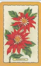VINTAGE COLES BLANK BACK SWAP CARD - 1 SINGLE - POINSETTIA