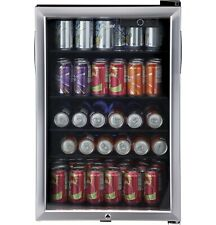 Haier 150 Can Locking Beverage Center Cooler Mini Fridge Refrigerator Glass Door