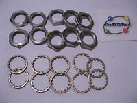 Hex Nut 3/8-32 w. Lock Washer Non-Magnetic for Potentiometer - NOS Qty 10