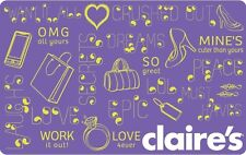 Claire's Gift Card - $20 Mail Delivery