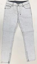 ksubi Jeans 'SPRAY ON CRACK WHITE' Paint Bake Size 28 NEW RRP $399 Womens