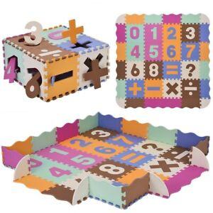 36pc Soft Foam Floor Tiles Interlocking Kids 012345678 Number Puzzle Play Mat