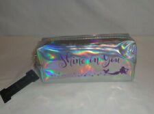 "Make Up Case Bag Silver Mermaid Metallic Toiletry Travel Cosmetics ""Shine on You"