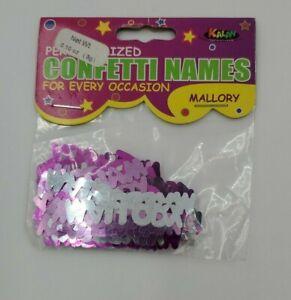 Personalized Name Confetti Mallory Foil Pink & Silver