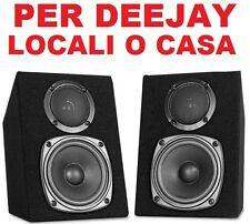 COPPIA CASSE ACUSTICHE PASSIVE 200w in legno MONITOR DJ scaffale no amplificate
