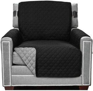Sofa Shield Original Patent Pending Reversible Chair Protector Charcoal/Linen