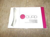 Quad electrostatic Speaker owners manual  original