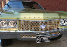 1971 Chevy Caprice Impala chrome gold mesh grill triple weave 3 piece DONK